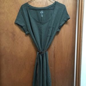 Gap Cotton T-shirt Dress With Pocket Size S